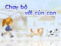 Chạy bộ với cún con