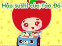 Hộp Sushi của táo đỏ