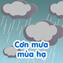 Cơn mưa mùa hạ - Bé thách đố