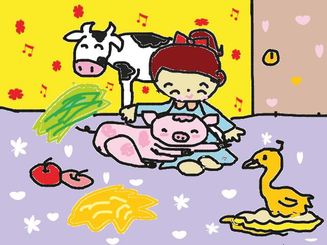 hoa-si-nhi/xem-tranh/133975/cham-soc-dong-vat.html