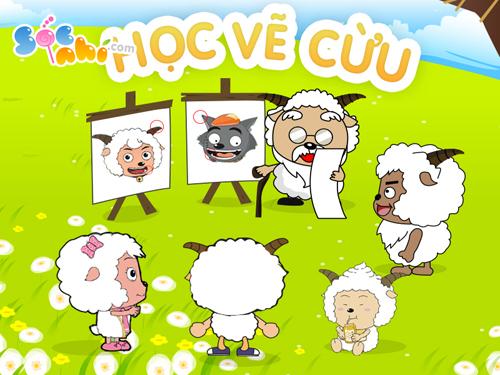 Học vẽ Cừu cùng Sóc Nhí
