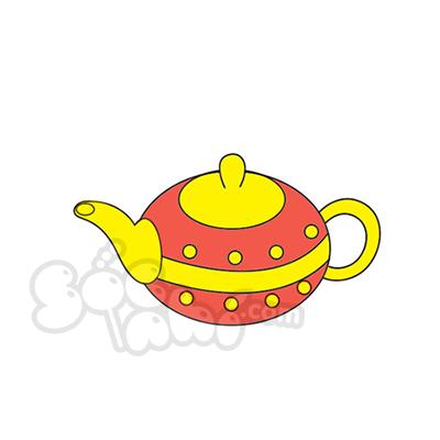 Học vẽ ấm trà cùng Sóc Nhí