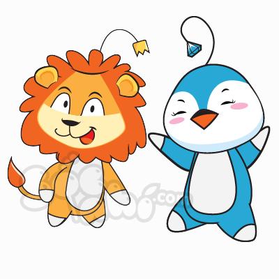 Cùng vẽ chân dung Cánh Cụt Ủn Ỉn và Leo đáng yêu!