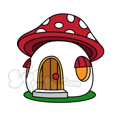 Vẽ ngôi nhà nấm