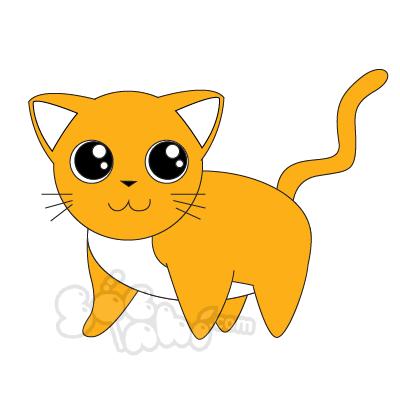 Vẽ bé Mèo xinh xắn