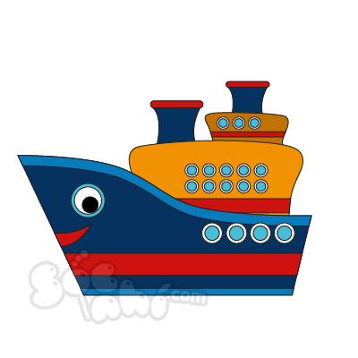 Vẽ chiếc Tàu thủy thích du lịch