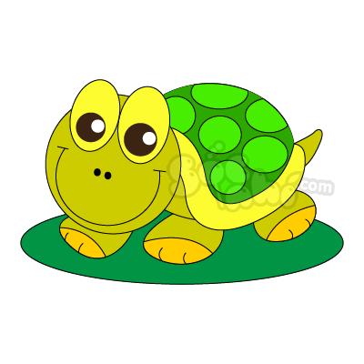 Vẽ bạn Rùa chăm chỉ
