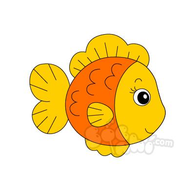 Vẽ cô Cá vàng nhí nhảnh