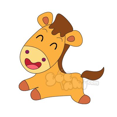 Học vẽ bé Ngựa con thần tốc