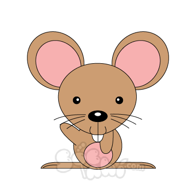 Vẽ chú chuột nhí nghịch ngợm