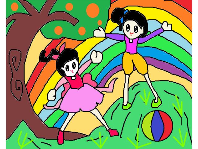hoa-si-nhi/xem-tranh/157925/The-gioi-tuoi-dep-cua-chung-minh.html