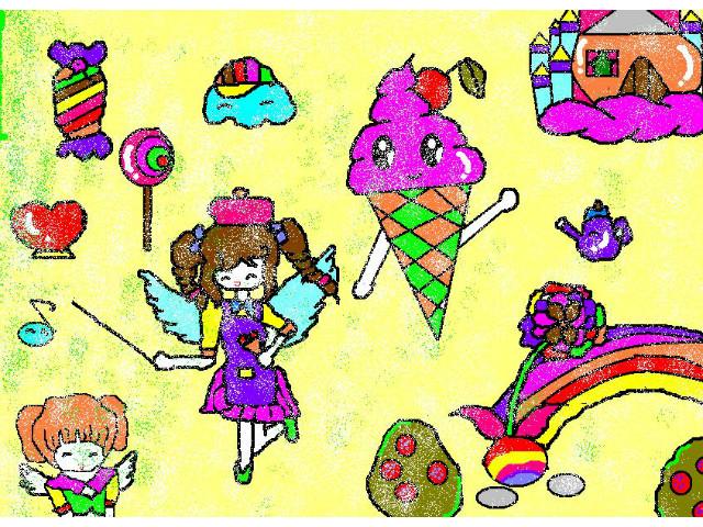 hoa-si-nhi/xem-tranh/165769/Exploring-cakes-candy-kingdom.html