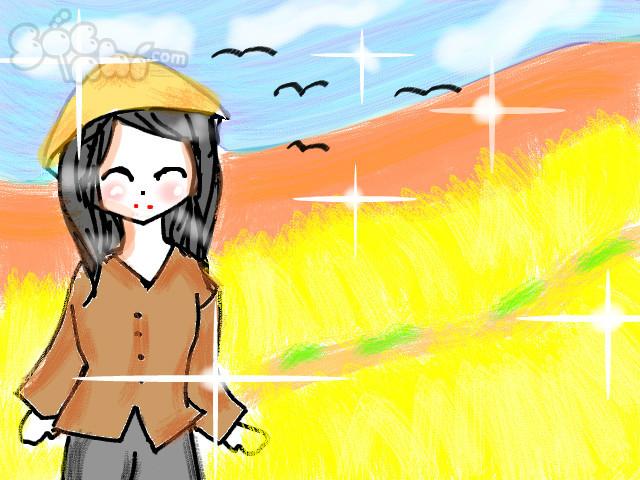 hoa-si-nhi/xem-tranh/195472/Canh-dong-que-em.html