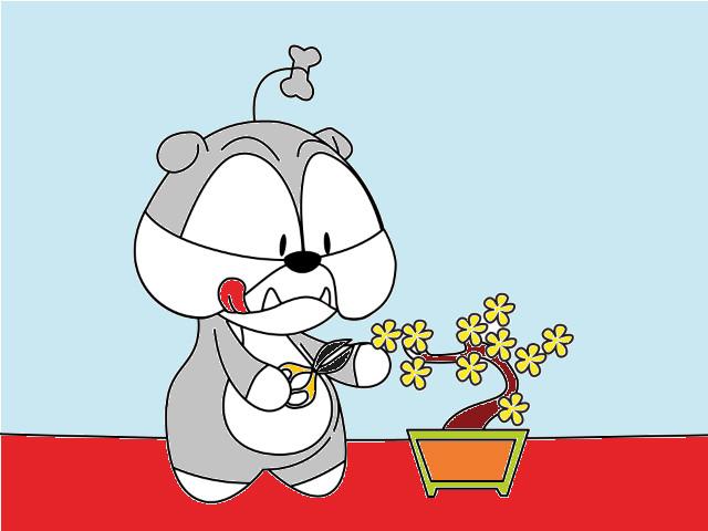 hoa-si-nhi/xem-tranh/223332/Cho-Bun-cham-soc-cay.html