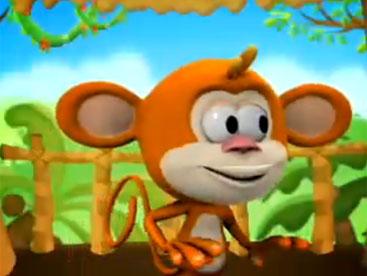 Khỉ con nghịch ngợm