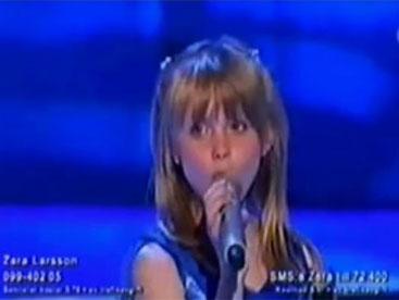 Zara Larsson ca sĩ nhí