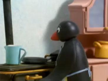 Pingu học làm bánh