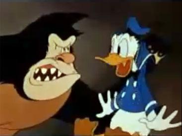 Cuộc đối đầu của vịt donal và gorilla