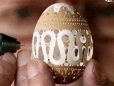 Nghệ thuật điêu khắc vỏ trứng