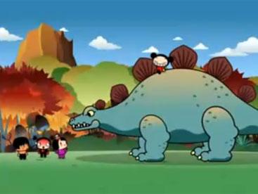 Pucca đối đầu với khủng long