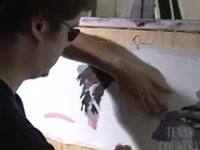 Tài năng phi thường của người họa sĩ mù