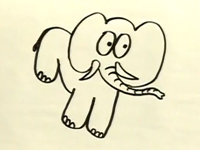 Bé tập vẽ voi con nhé!