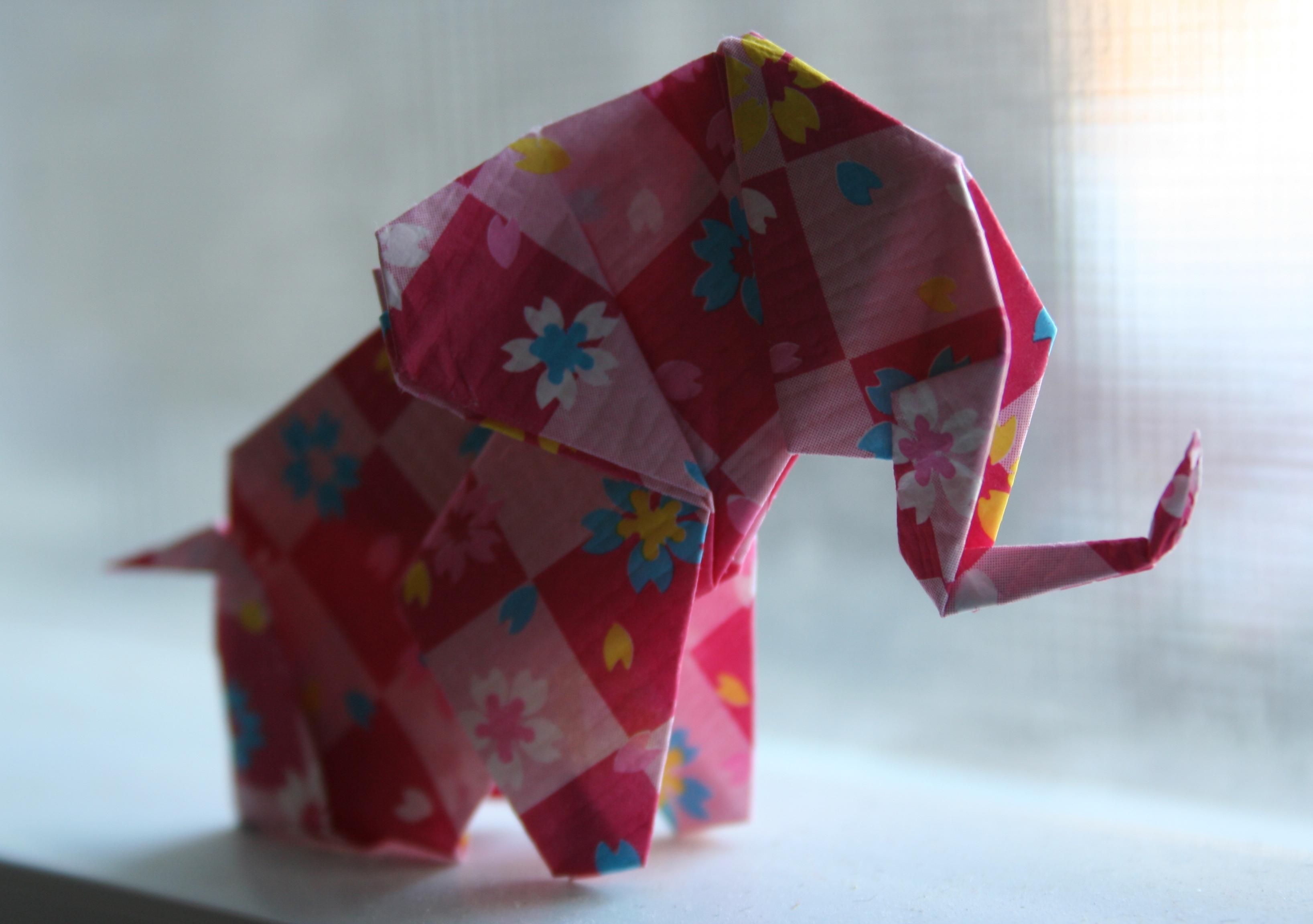 Gấp chú voi xinh