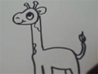 Vẽ hươu cao cổ