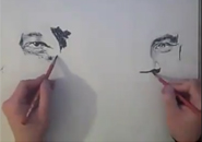 Họa sĩ vẽ bằng hai tay