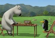 Gấu Bernard chơi cờ vua