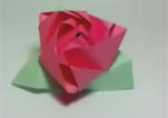Gấp hoa hồng origami nhỏ xinh