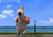 Chú gấu Bernard- Bông hoa
