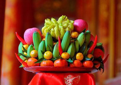 Mâm ngũ quả ngày tết của người Việt