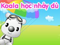 Gấu koala học nhảy dù