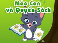 Mèo con và quyển sách